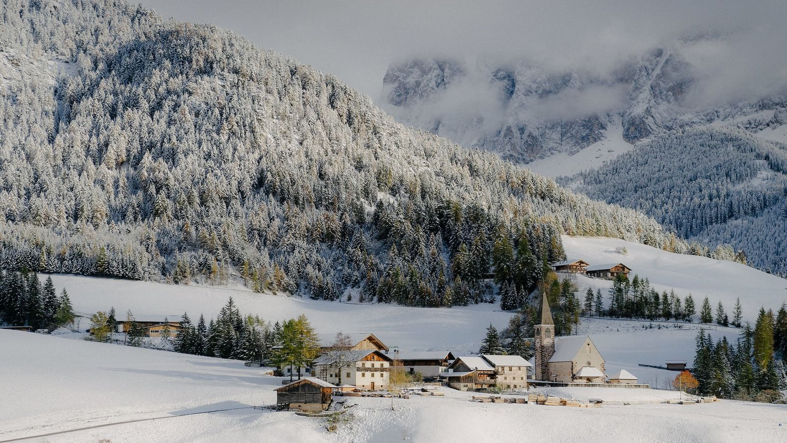 Cortina with snow | Winter Season | Cristallo Resort & Spa